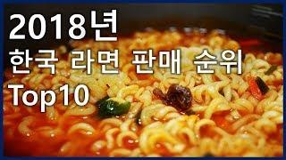 2018년 한국 라면 판매 순위 Top10_[SES Production]