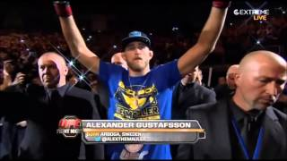 Alexander Gustafsson Entrance at UFC London