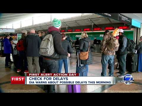 Check For Delays At Denver International Airport As Snow Moves Out