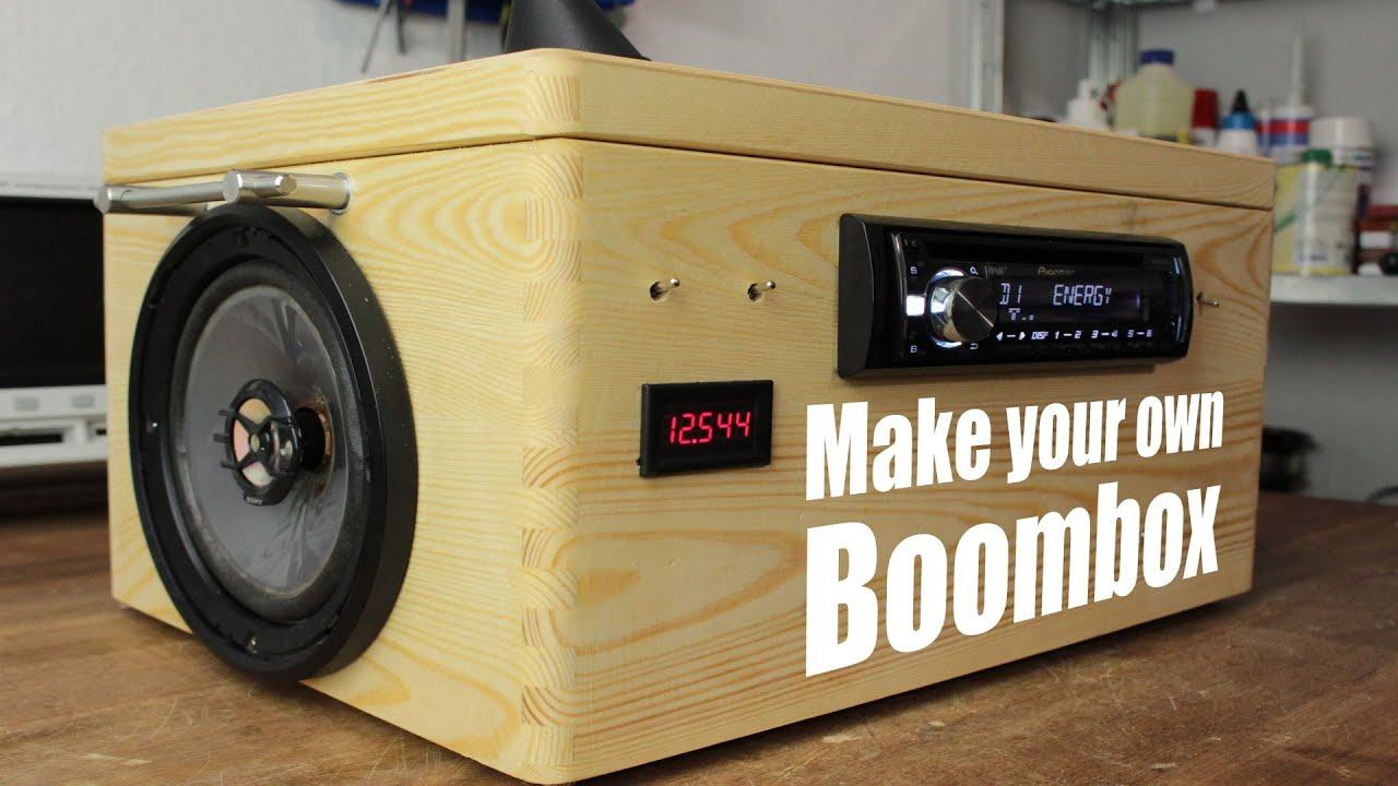 Make your own bluetooth boombox-[Video]