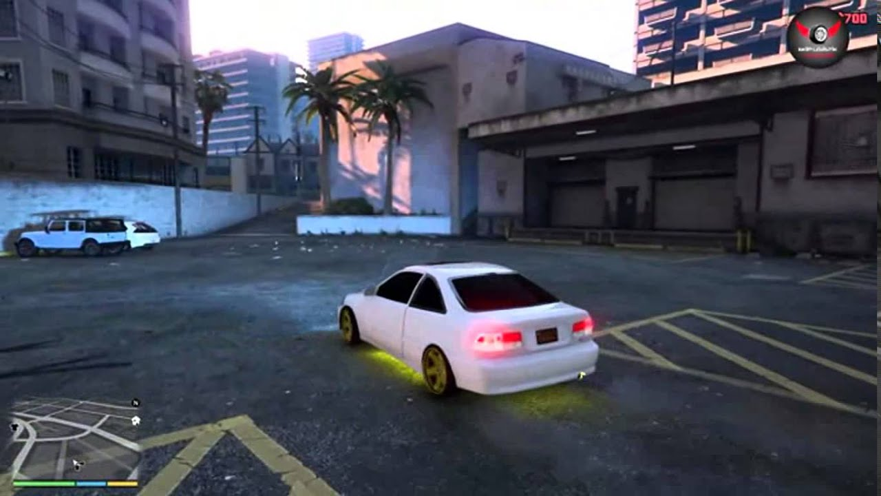 Машины из Форсажа 1 для ГТА 5: Хонда Сивик - YouTube