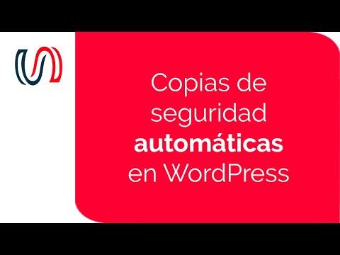 Hacer copias de seguridad automáticas en WordPress | WordPress Para ...