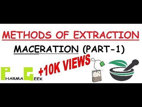Pharmageek Methods Of Extraction Maceration Part 1 Youtube
