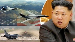Donald Trump sends B-52 and B-1 Nuke BOMBERS to Korean peninsula In response to North Korea