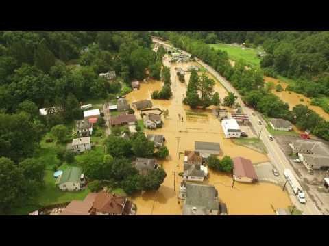 Farmington W.V Flood footage from above! July 29th 2017