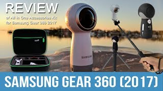 EEEKit All in 1 Accessories Kit for Samsung Gear 360 2017 Review for Better Capture & Live Streaming