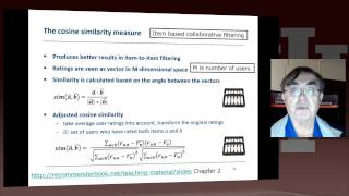 IU X-Informatics Unit 14: Recommender System III: 1 Item-based Collaborative Filtering I