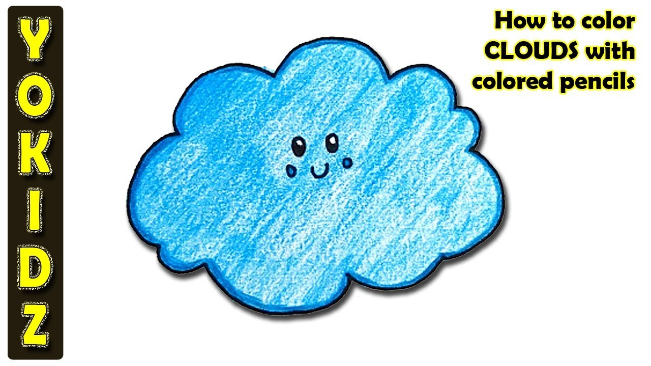 How To Color Clouds With Colored Pencils Youtube