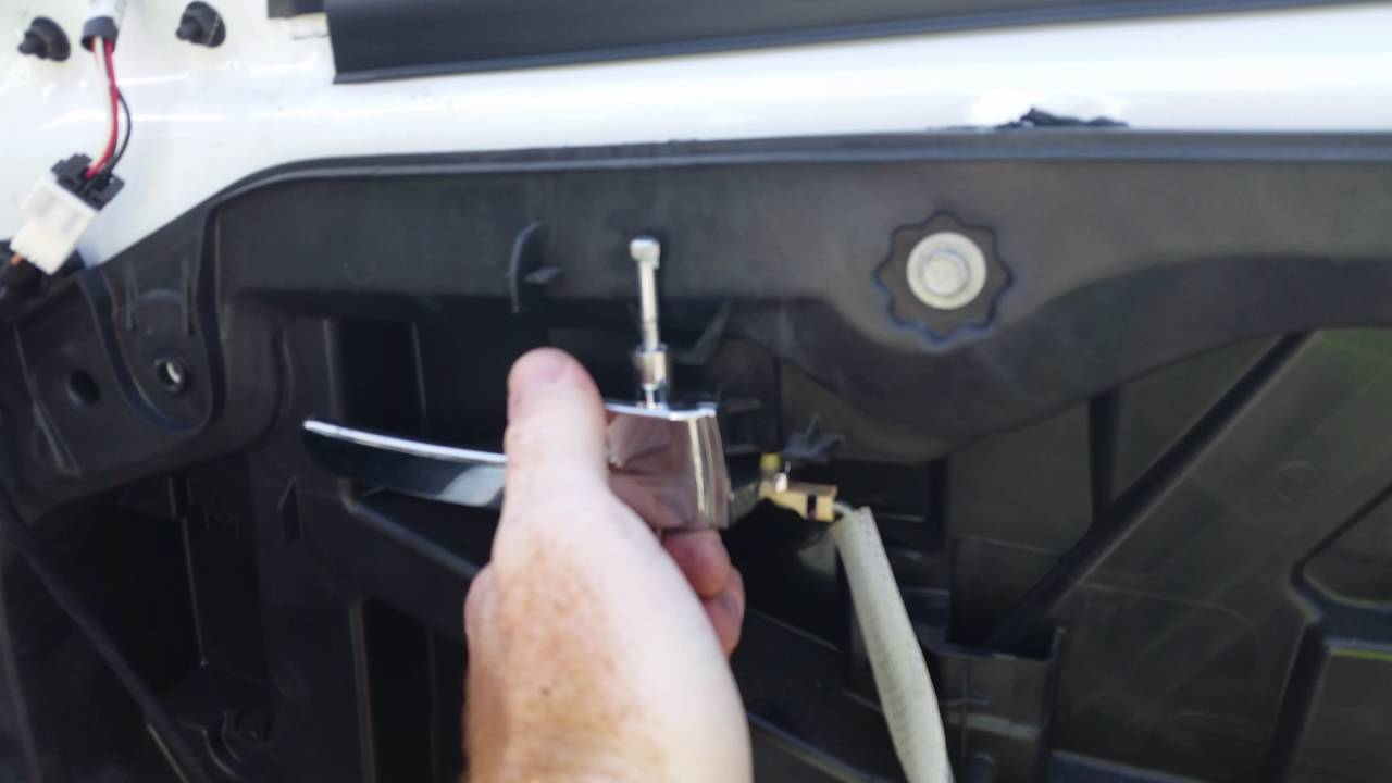 How to remove interior door handle - YouTube