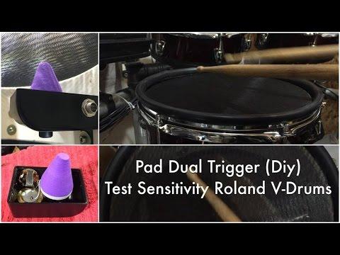 PAD SNARE ( DIY ) Dual Trigger for Roland V-Drums