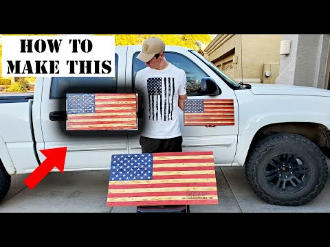 HOW TO MAKE A MEDIUM WOODEN AMERICAN FLAG!