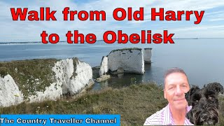 A walk from Old Harry Rocks, on the Jurassic Coast, along Ballard Down to the Obelisk