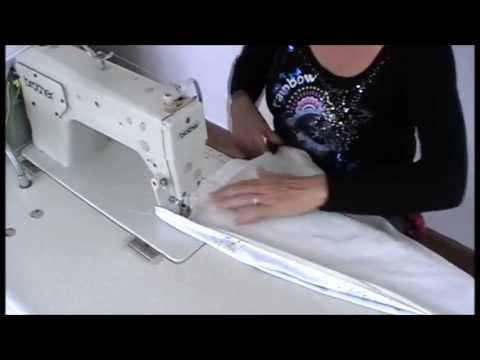 HOW TO MAKE TAB TOP CURTAINS - YouTube