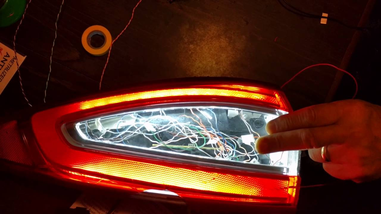 Ford Fusion Sequential Custom Tail Light Project