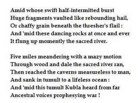 sacred river kubla khan coleridge