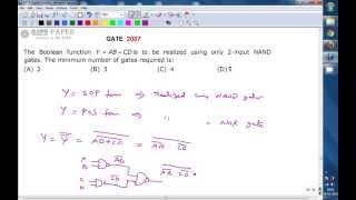 Boole işlevi, AB + CD KAPI 2007 ECE Gerçekleştirilmesi NAND kapıları kullanarak