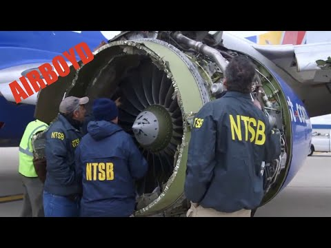 Southwest Airlines Flight 1380 NTSB Engine Video