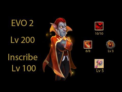 Castle Clash - Perfect Vlad Dracula - 2 EVO Lv 200 Life Drain 8/8