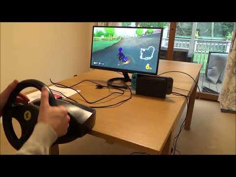 Steering Wheel for Nintendo Switch Racing Games (Long Version)