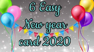 Happy New year card making easy 2020 New year card making handmade how to make New year card