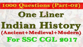 1000 Indian History Questions Part 02
