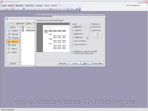 Access 2003 Berichte Erstellen