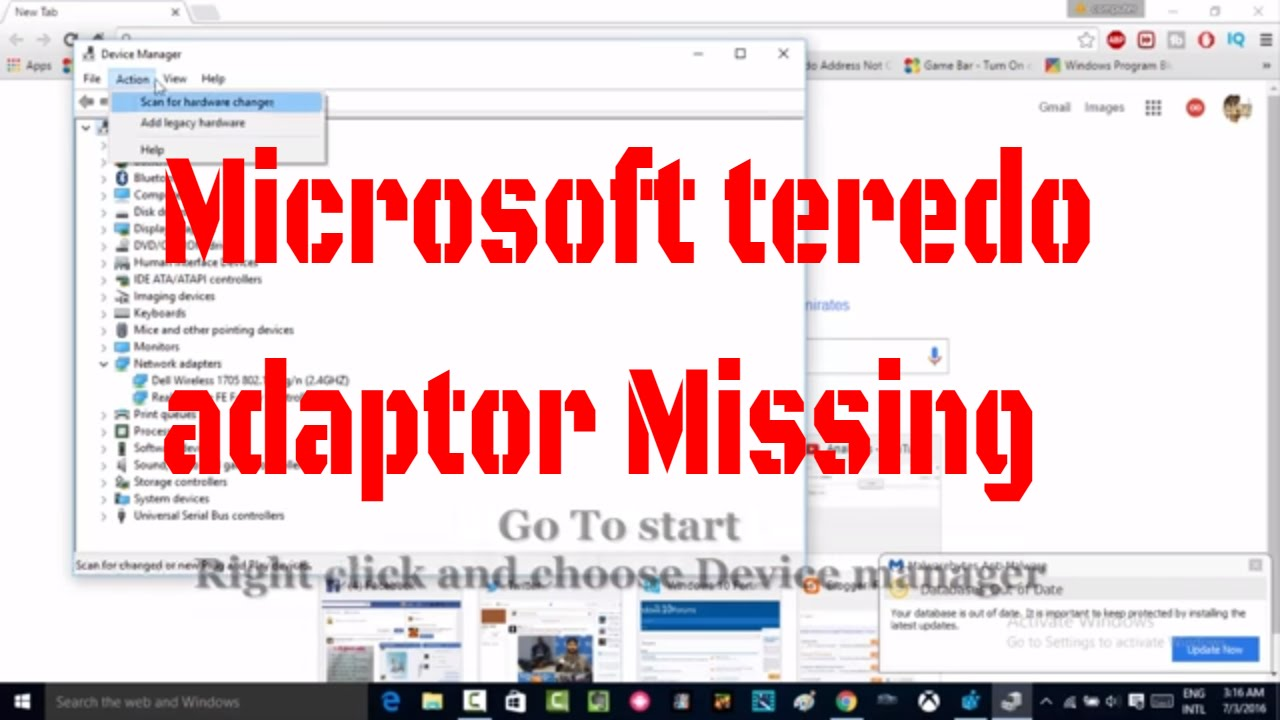 How to Fix Microsoft teredo Tunneling Adapter Missing in Device