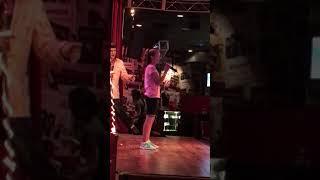 Little girl yodels at Las Vegas karaoke restaurant