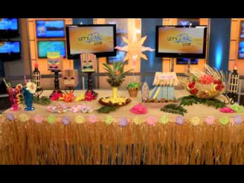 Diy hawaiian luau party decorations youtube diy hawaiian luau party decorations solutioingenieria Image collections