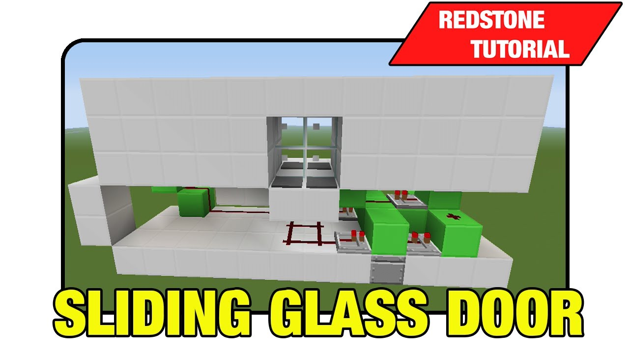 Sliding Glass Door Tutorial Minecraft Xbox Ps3 Tu15
