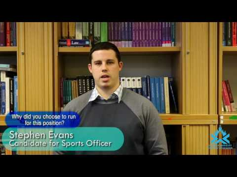 AUSA '17 Elections: Stephen Evans for Sports Officer