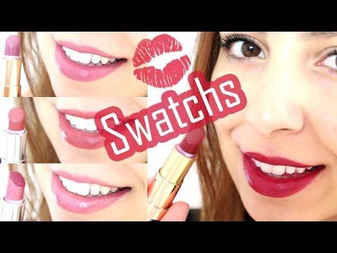 Lips Swatches Rouges à Lèvres Yves Rocher Estelle Addict Youtube