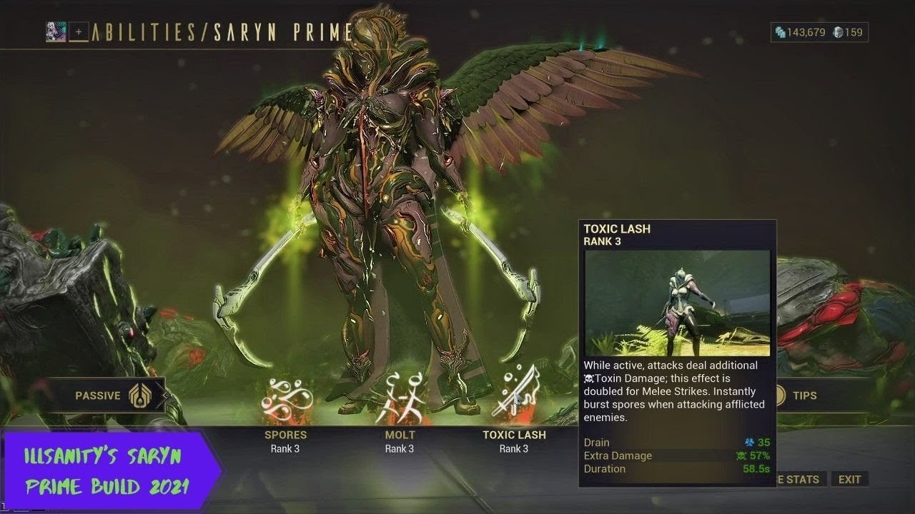 SPACE PLAGUE!! illsanity's Saryn Prime Build 2021! - YouTube