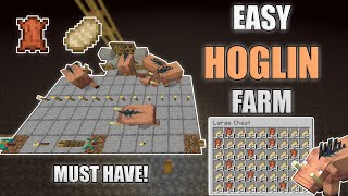 Minecraft Hoglin Leather and Food Farm Very Easy! 1.16-1.16.3