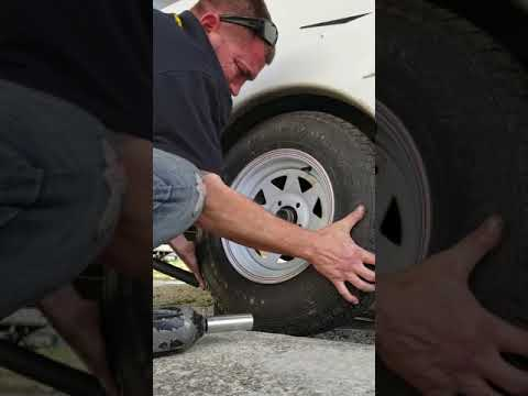 How to change a tire on a Toy Hauler