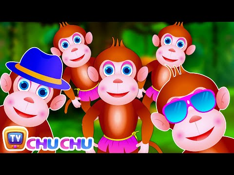 Thumbnail: Five Little Monkeys Jumping On The Bed | Part 3 - The Smart Monkeys | ChuChu TV Kids Songs