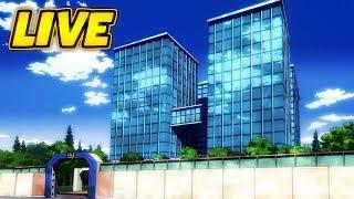 Working on U.A. for my Boku no Hero Academia Game!!   Roblox Live Stream #126