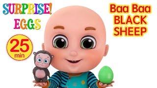 Surprise Eggs - Baa Baa Black Sheep - Surprise Eggs Videos from Jugnu kids