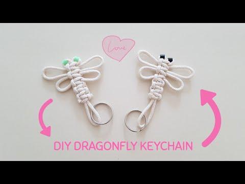 DIY Dragonfly Keychain paracord tutorial