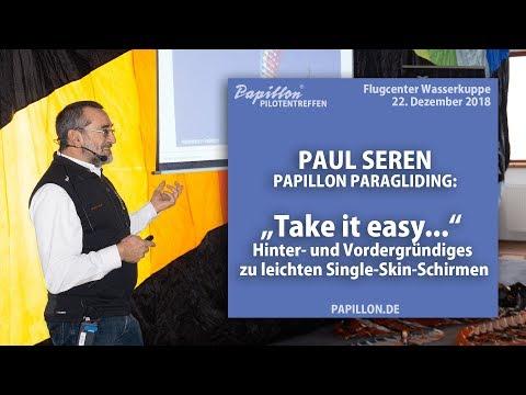 Single-Skin-Paraglider: Vortrag von Paul am Papillon Pilotentag 2018