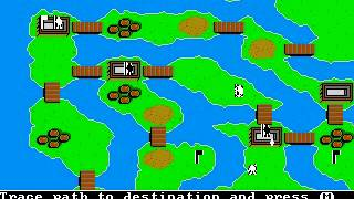 PC DOS The Ancient Art of War Gameplay