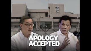SONA: President Rodrigo Duterte accepts ABS-CBN apology