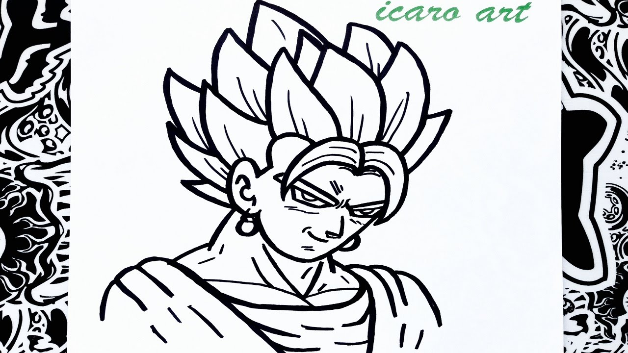 How To Draw Vegetto - YouTube
