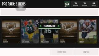 Madden Mobile Best Pack Opening Video Ever!