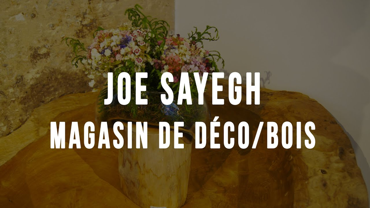 joe sayegh magasin de d coration youtube. Black Bedroom Furniture Sets. Home Design Ideas
