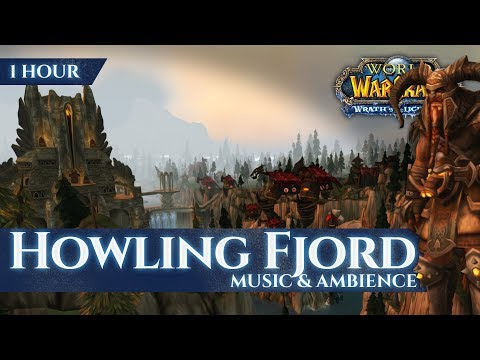 Howling Fjord - Music & Ambience (1 hour, 4K, World of Warcraft Wrath of the Lich King)