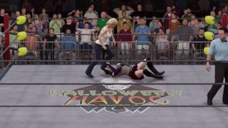WWE 2K17 Buffy Summers vs. Cassie Hack - No Holds Barred