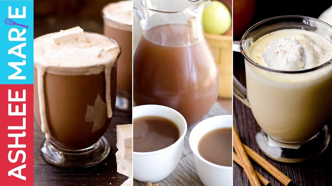 3 Warm Fall Drink Recipes Hot Chocolate Warm Pumpkin Pie Drink