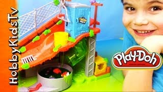 Trash Pack Slime and PLAY-DOH Toy Review! We Play with Ooze with HobbyKidsTV