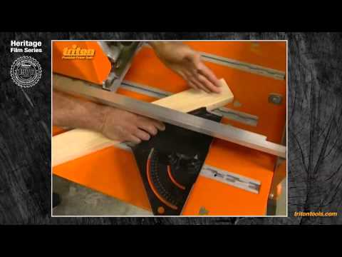 Mitre Cutting With Triton Workcentre (cross cut mode) - Triton Heritage